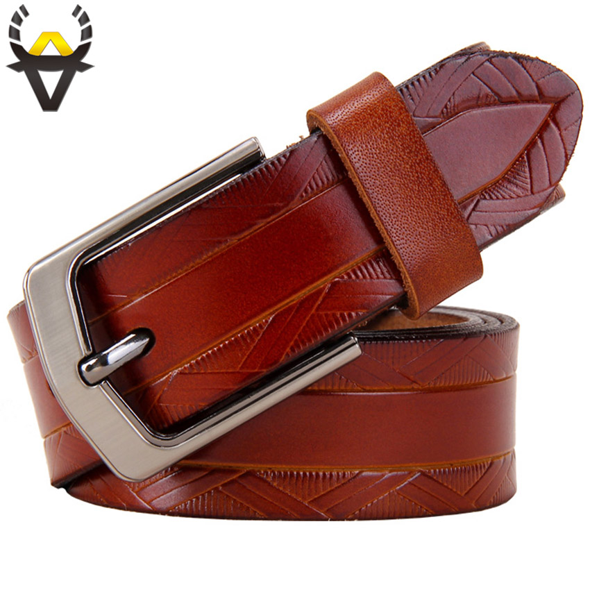 Genuine leather   belts   for women High quality second layer cowskin   belt   woman Fashion Pin buckle wide female strap for Jeans Blue