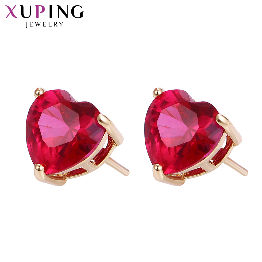 Xuping Fashion Earring New Design 18K Gold Color Plated Synthetic CZ  Jewelry Wedding Stud Earrings For Women Special Y5-21756 earrings