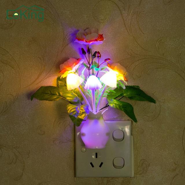 Lumineux Colore Grenade Fleur Nuit Lumiere Lilas Lampe Capteur Us