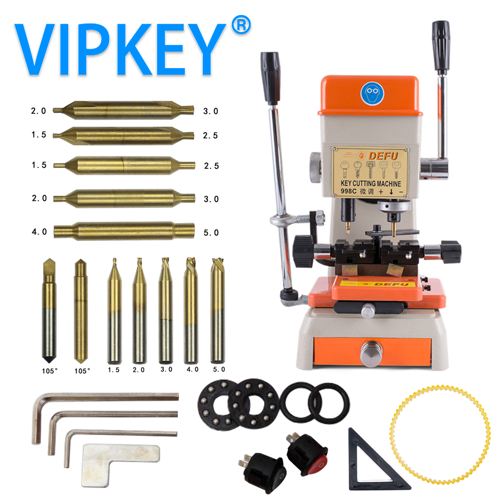 998C Key Cutting Machine 220v 50hz and 110v 60hz for door and car lock Key Copy