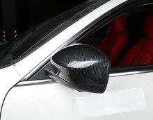 2pcs for Maserati Levante carbon fibre Rearview mirror shell Decorative cover sticker