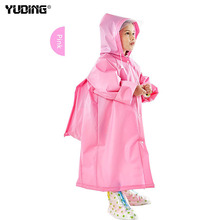 Yuding Toddler Kids Raincoat EVA Rain Coat Hooded Boys Girls Rain Poncho Waterproof Raincoat For Children With Schoolbag