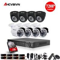 8CH CCTV Системы 1080 P HDMI Выход видеонаблюдения DVR комплект с 8 шт. 2000TVL 720 P CCTV дома камера Системы 1 ТБ