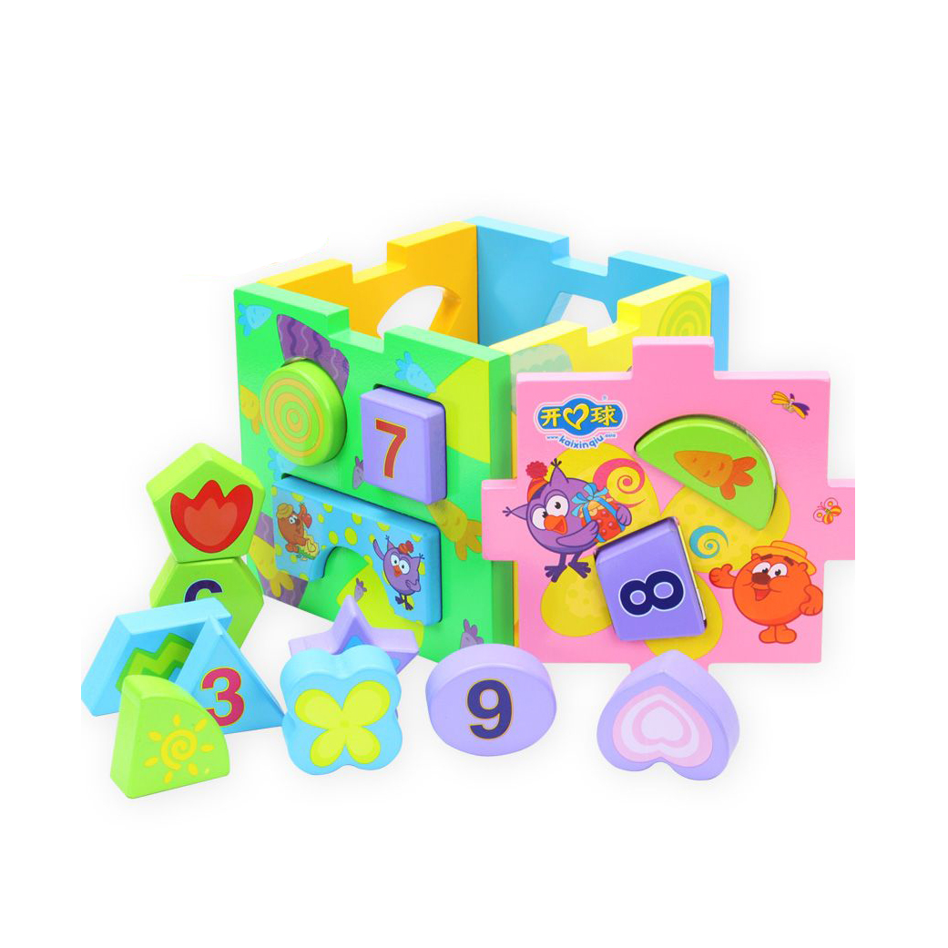 ФОТО Chanycore Learning Educational Wooden Toys Geometric Shape Blocks Box Sorting Matching ydl Montessori Enlightenment Gifts 4104