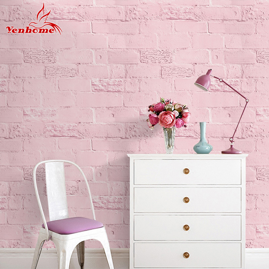 3m 5m 10m pvc waterproof vinyl letter brick stone self for Room decor 3d self adhesive wallpaper