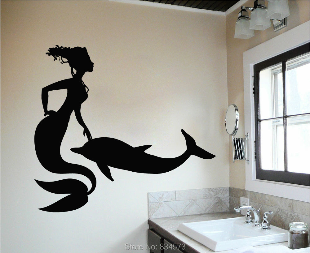 Sea Ocean Mermaid Dolphin Wall Art Stickers