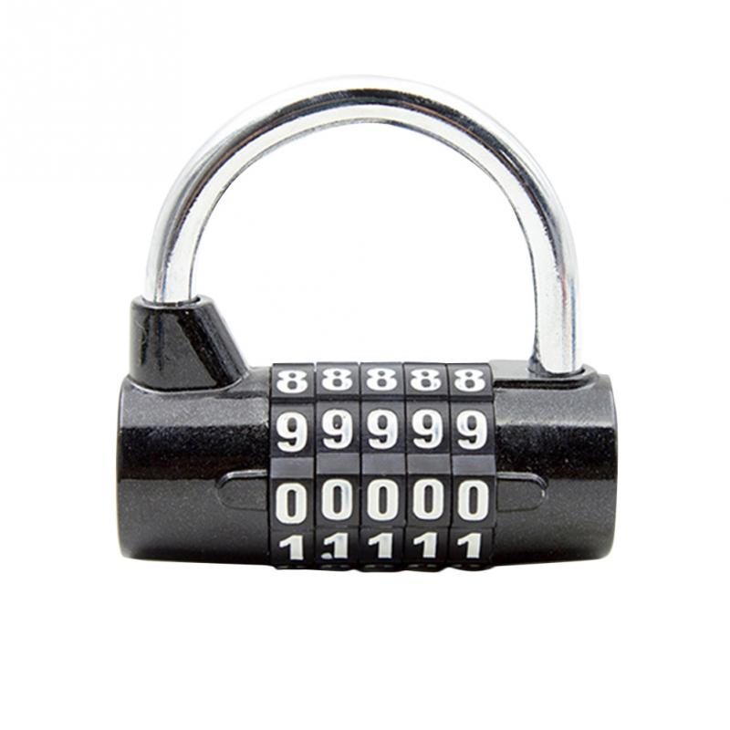 Coded Lock Club 5 Digit Combination Password Lock Zinc Alloy Safety Lock Suitcase Luggage Cupboard Cabinet Locker Padlock