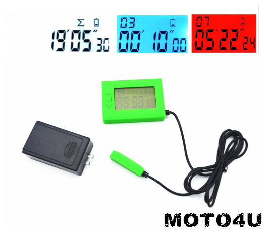 MOTO4U Ultimate Lap Timer Infrared Ultrared Race Timing Track Day Practice Green race day grub