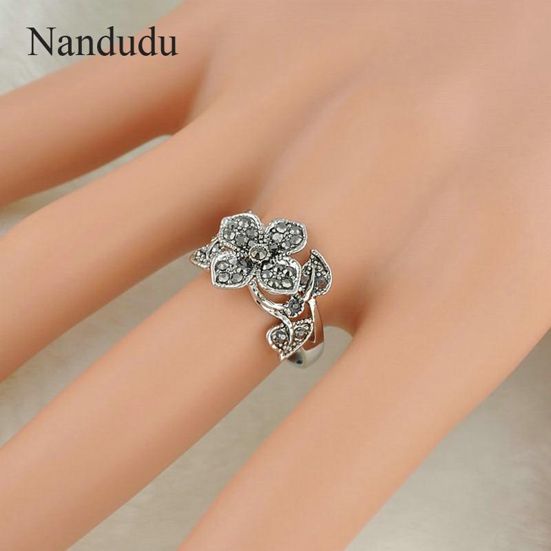 Nandudu όμορφα λουλούδια Marcasite - Κοσμήματα μόδας - Φωτογραφία 4