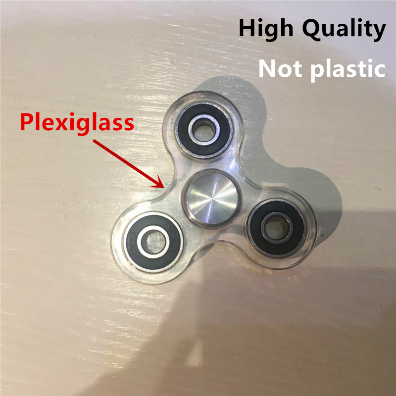 Tri-Spinner Fidgets Action Figure Toys of  Plastic EDC Sensory Fidget Spinner For Autism and ADHD Children