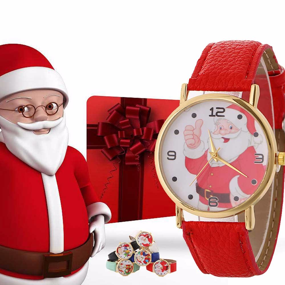 Women Watch Christmas Santa Pattern Fashion Ladies Wrist Watches Female Leather Luxury Brand Wristwatches Relojes Mujer 5/ christmas santa house face number watch page 5