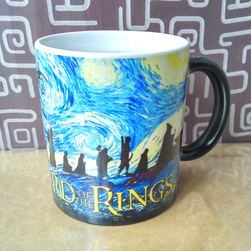 Lord of the rings magic mug hot cold color changing mugs cup coffee tea milk mug cup for your friend gift