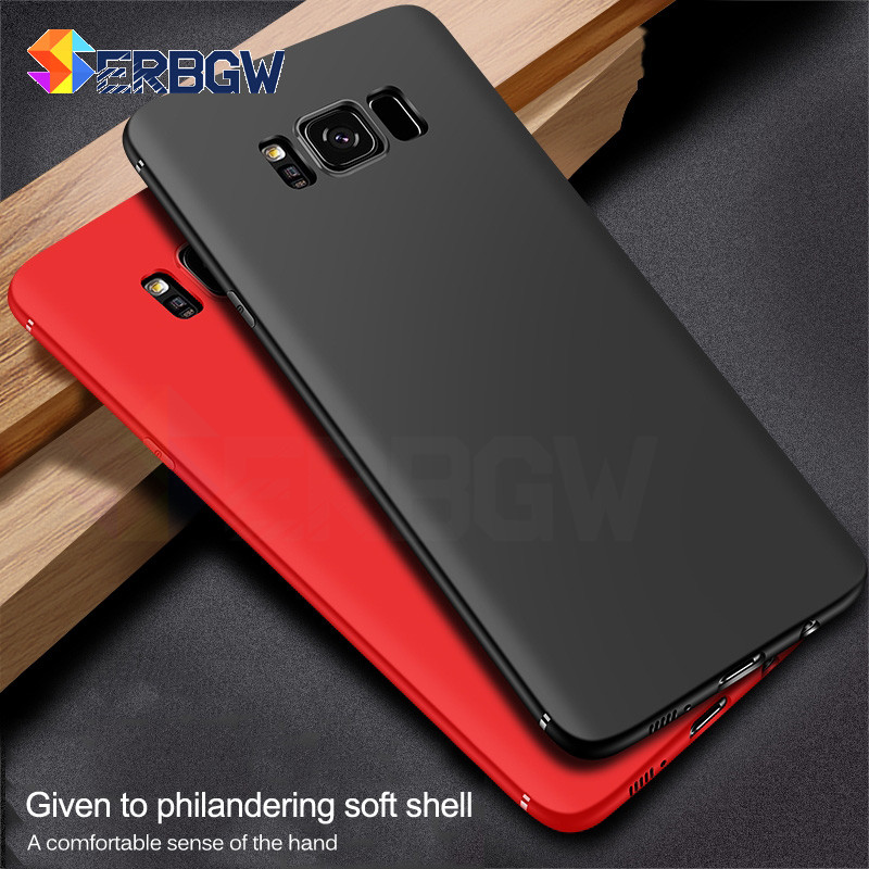 Soft-Silicone-Case Black Samsung Galaxy S7-Edge S9 Plus For A3 A5 A7 J3 J5 J7 S6 S8 Ultra-Thin