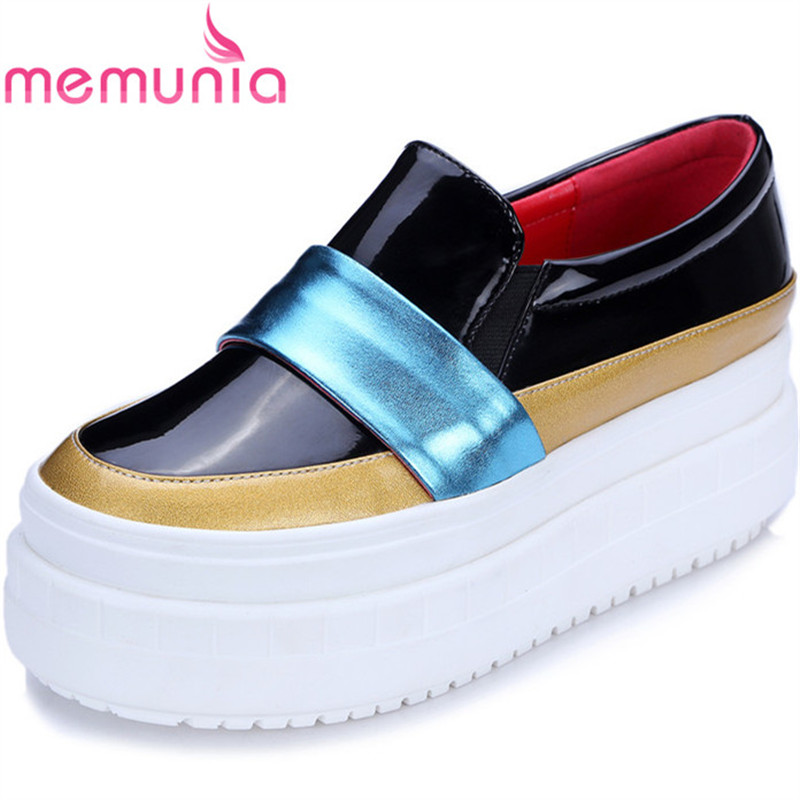 MEMUNIA new arrive flat platform popular women shoes fashion spring autumn flats shoes leisure comfortable memunia spring autumn popular genuine