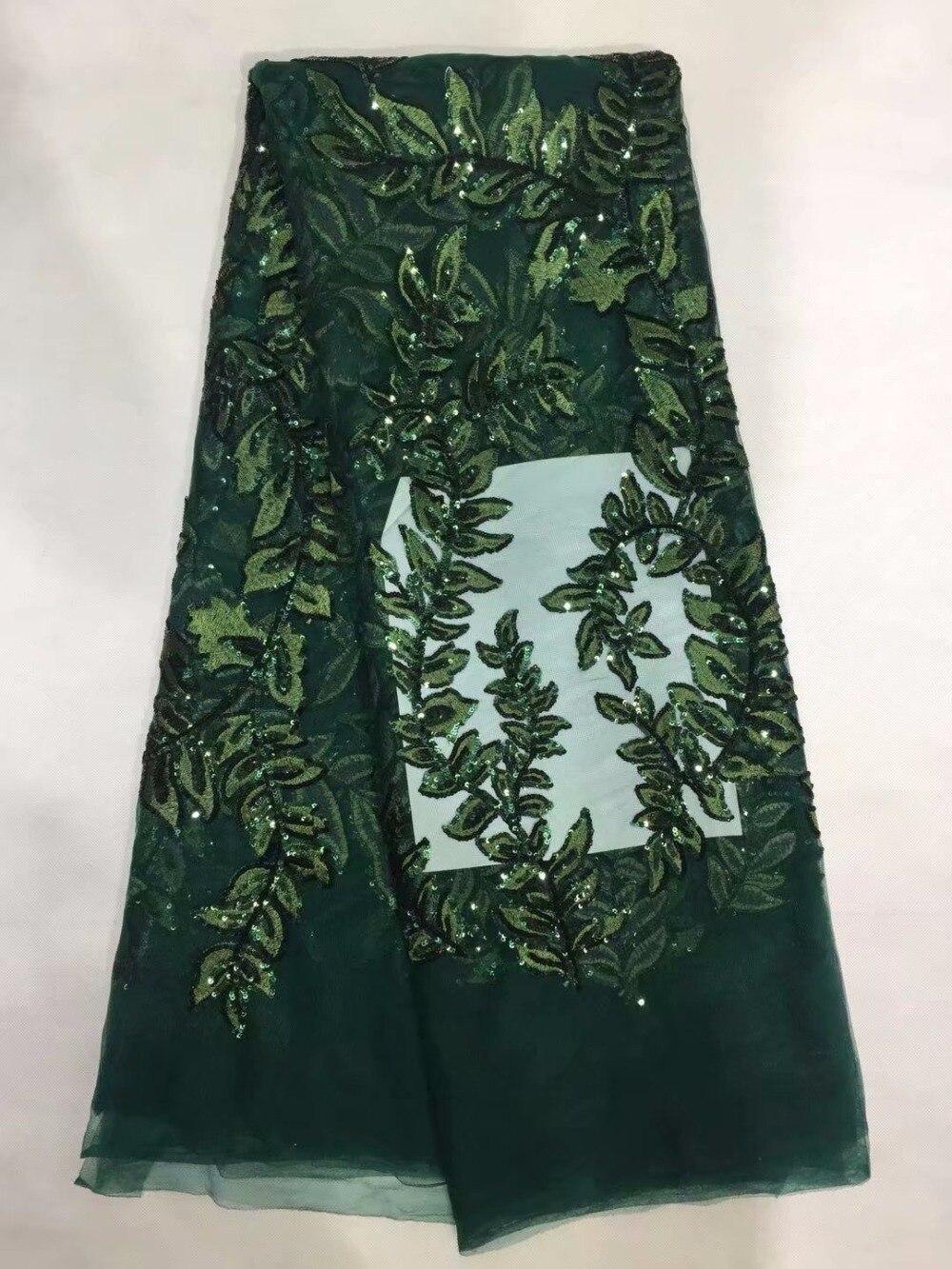 Diseño Especial tela de encaje de Red africana con lentejuelas 2018 nuevo nigeriano bordado lentejuelas mujeres Noble vestidos de boda cordones de red-in encaje from Hogar y Mascotas    1