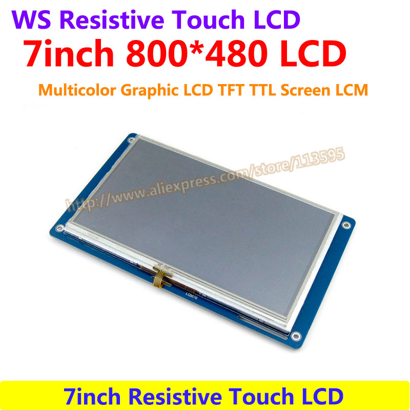 7inch Resistive Touch LCD drive Demo Board development Display Module 800*480 Multicolor Graphic LCD TFT TTL Screen LCM