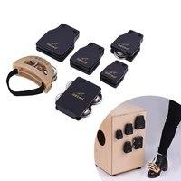 GK Series Cajon Box Drum Companions Set Including Castanets Jingle Bells Foot Tambourine Percussion Instruments