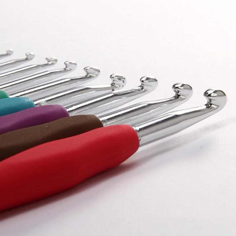9 шт. смешанный металлический крючок, набор шаблонов для вязания, TPR алюминиевые спицы для ткацкого станка, ремешки для инструментов, DIY ремесла, FPing