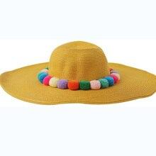 Color Balls Straw Hat