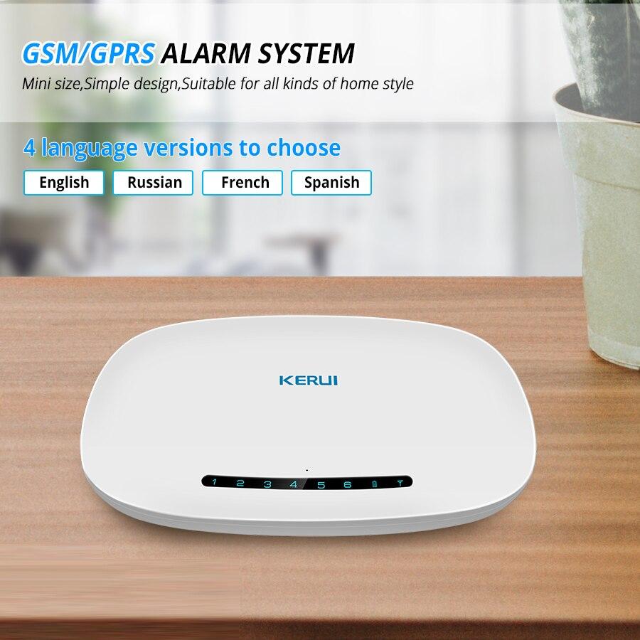 KERUI GSM Alarm System Security Auto Dial APP Control Wireless Home Burglar Security Alarm Host