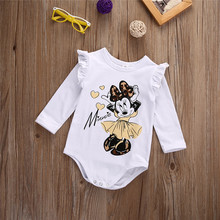 Xmas White Long Sleeve Baby Girl Bodysuit Jumpsuit Newborn Infant Children Kid Autumn New Born Wear Body Clothes