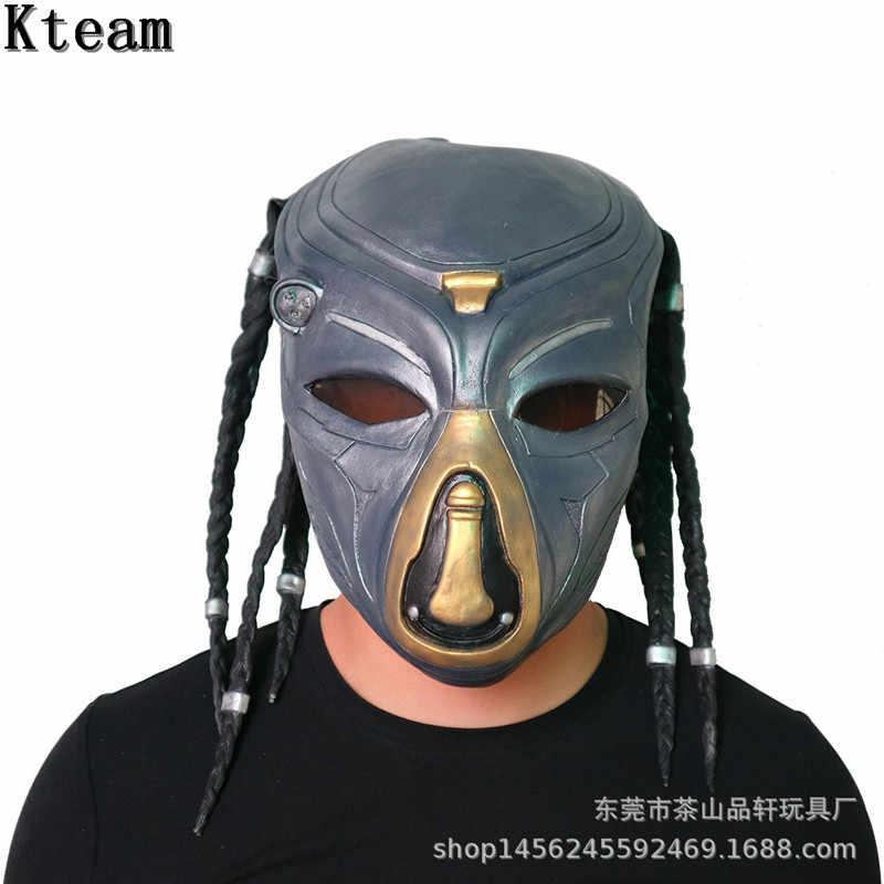 2019 новый фильм чужой Хищник костюм с маской шлемы реквизит антенны страшные маски для вечеринки в честь празднования Хеллоуина анфас Глава карнавальные маски