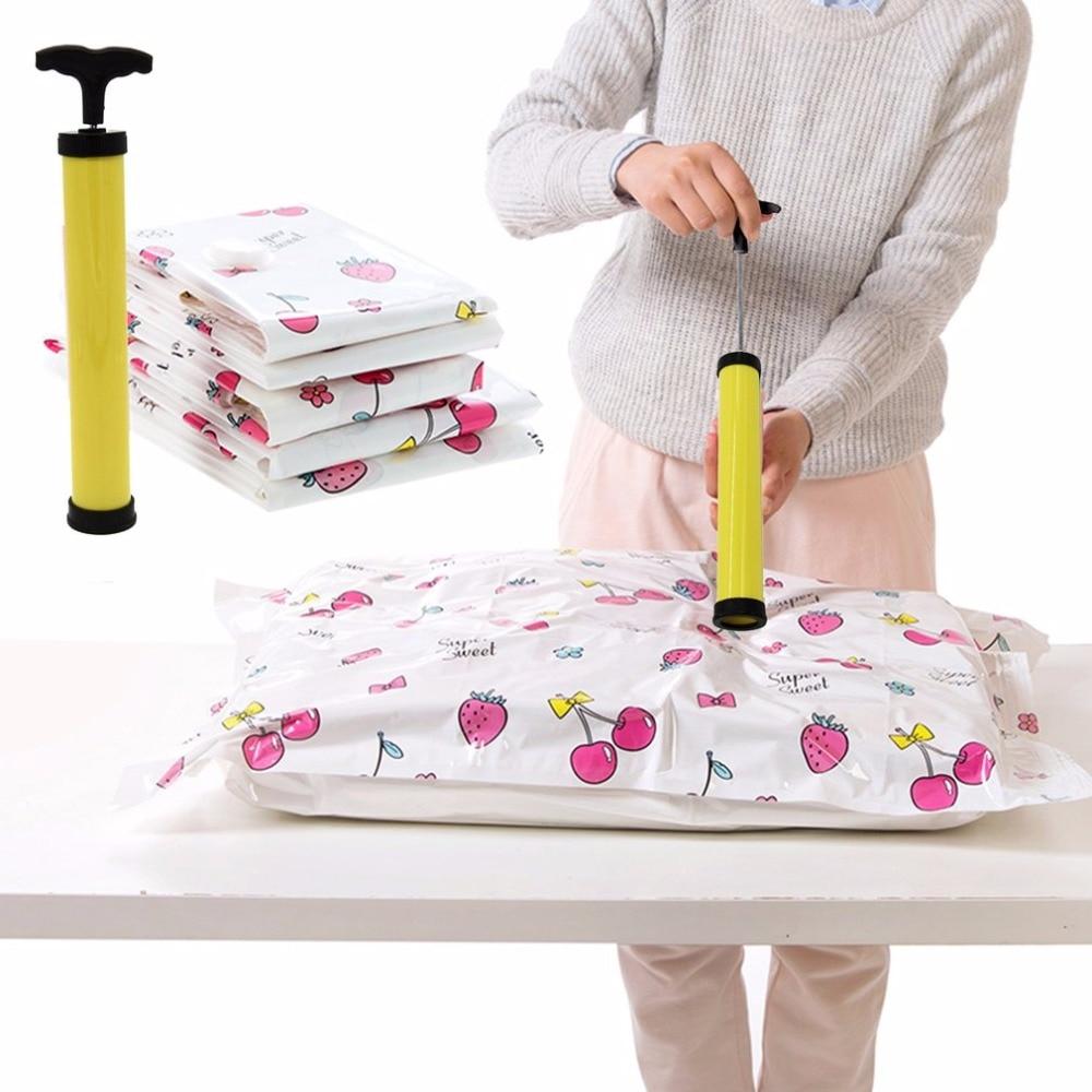 Компактный размер ручной вакуумный мешок Экономия пространства уплотнение Сжатый мешок для хранения насос Компактный ручной воздушный вакуумный насос