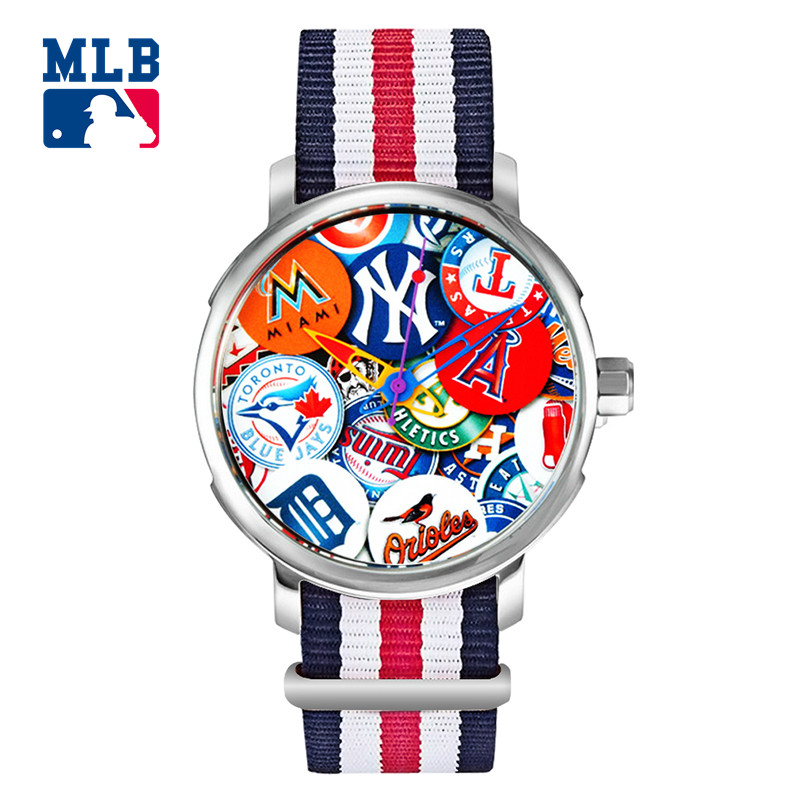 MLB Fashion three-dimensional surface Watch Face Leather Waterproof Lover Watches Men Women Quartz Sport Wrist Watch YH003 mlb time square series fashion sport couple watch waterproof wristwatch leather band quartz watch for men and women sd008