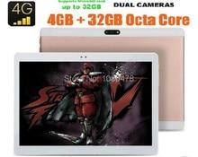 2017 Nueva 10 pulgadas 4G LTE Octa Tablet Android 6.0 8.0MP Core 4 GB + 64 GB Dual Tarjetas SIM 1920*1200 IPS HD de 10.1 pulgadas Tablet pc + Gifs