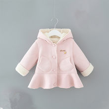 a1d93c316 Niña abrigo de invierno chaqueta para las Niñas Ropa 2018 nuevo otoño moda  con capucha gruesa caliente niño bebé abrigos