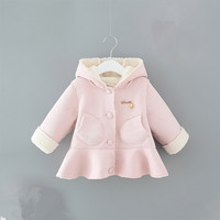 Baby Girls Winter Coat Jacket For Baby Girl Clothing 2019 Autumn Fashion Hooded Thick Warm Toddler Infant Baby Overcoats Clothes