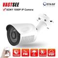 1080 p cámara ip poe full hd de 2.0mp sony imx323 sensor h.264 al aire libre impermeable IP66 P2P Visión Nocturna HD Lente de camaras de seguridad