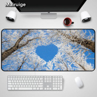 Mairuige Hot Selling Scenery Big Tree Forest Mousepad Big Size 90x40x3MM Gaming Mouse DIY for s PC Notebook Rubber Mice Mat