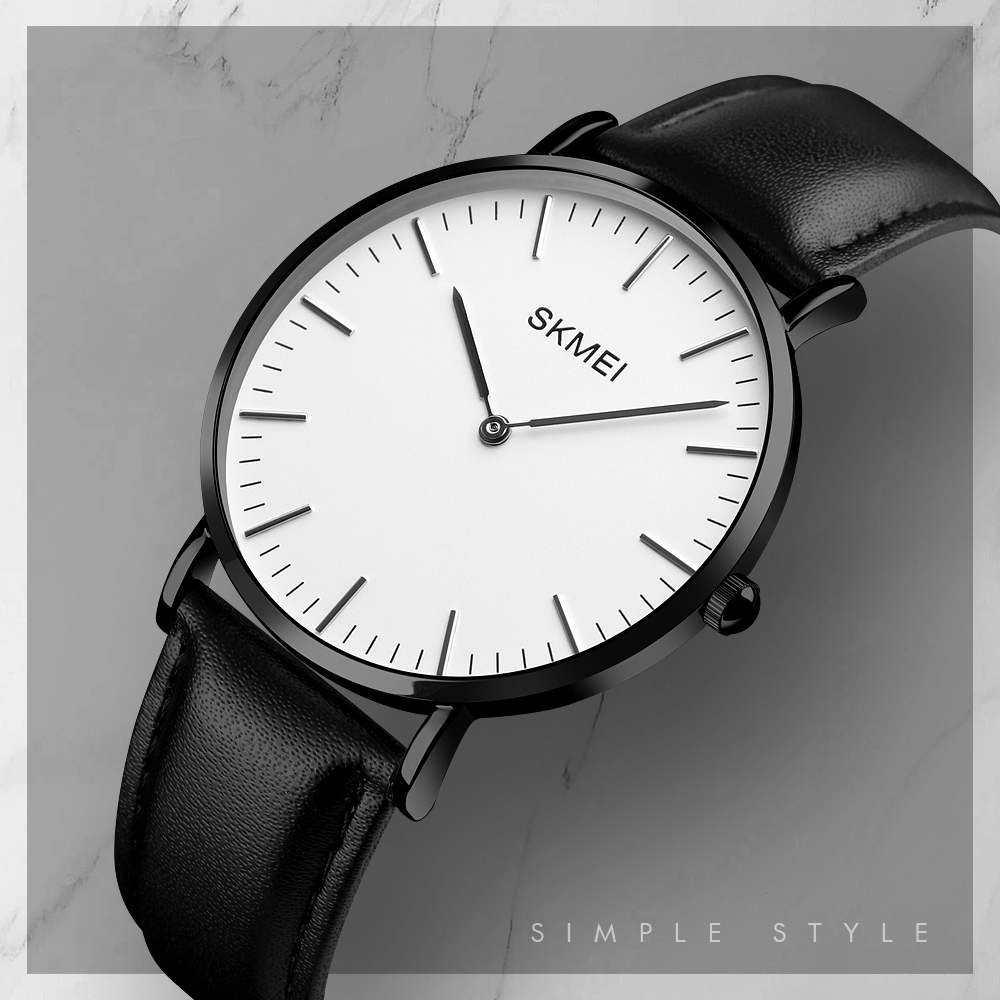Skmei Luxury Brand Women Watches Men Analog Men's Quartz Watch Ladies Sports Watches Leather Strap Men Wristwatches