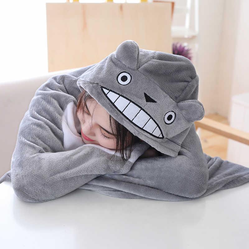 Nuevo en venta de juguetes de peluche totoro muñeca colgada manta de aire acondicionado creativos regalos de Navidad para niños niñas