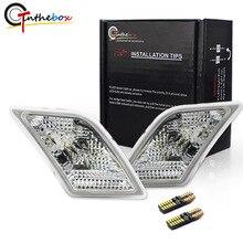 Gtinthebox واضح عدسة مصابيح العلامات الجانبية ث/أبيض LED ل 2008 2011 مرسيدس بنز W204 C250 C300 C350 C63 AMG مصابيح العلامات الجانبية