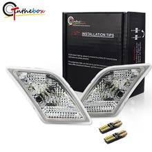Gtinthebox Şeffaf Lens yan ikaz lambaları w/Beyaz LED 2008 2011 Mercedes Benz W204 C250 C300 C350 C63 AMG yan ikaz lambaları
