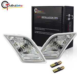 Image 1 - Gtinthebox luces laterales para Mercedes Benz W204, C250, C300, C350, C63, AMG, con LED blanco, transparente, para 2008 2011