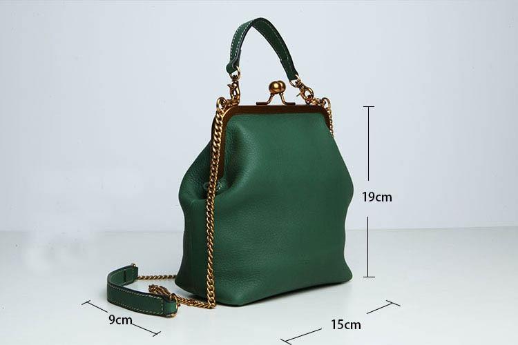2019 new vintage bag women's handbags leather PU chain shoulder crossbody bags (3)