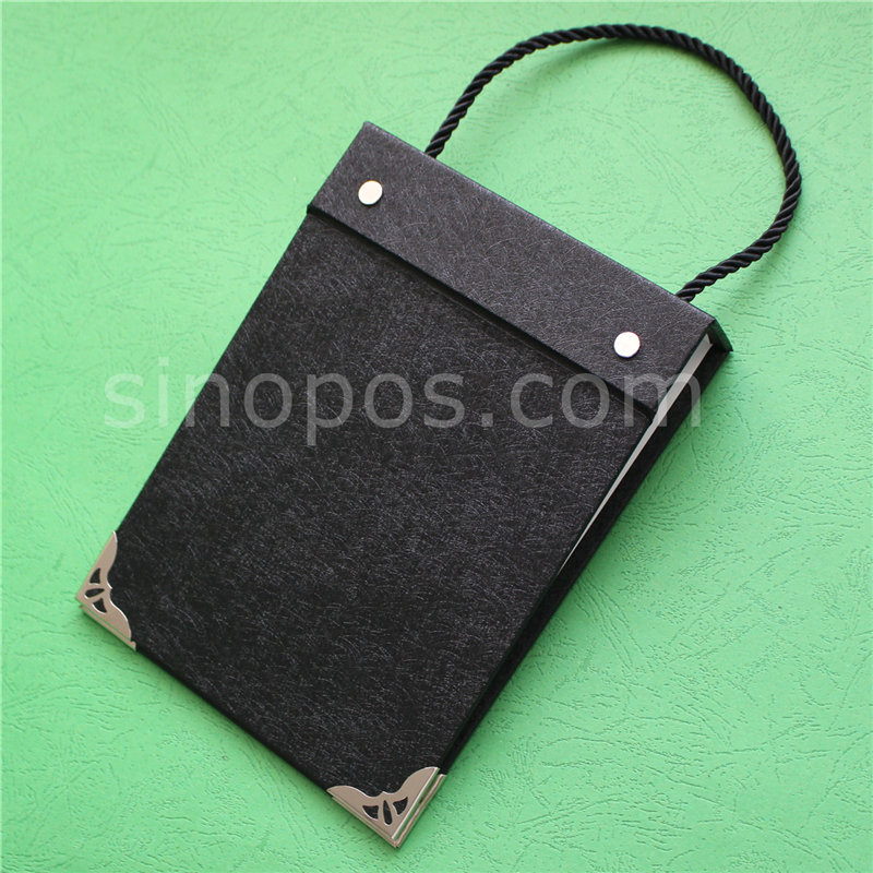 Leather Book Cover Material : Swatch book cover a fabric samples hanger textile
