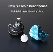 Nowy S6 0.78mm niestandardowe żywica słuchawki in ear przewód plug subwoofer HIFI uniwersalny magiczny dźwięk Bluetooth zatyczki do uszu przewód sterowania