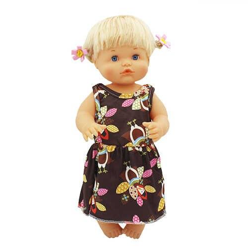 Hermoso vestido de ocio + conjunto de ropa que se ajusta a 42 cm muñeca Nenuco y su accesorios de muñeca hermanos