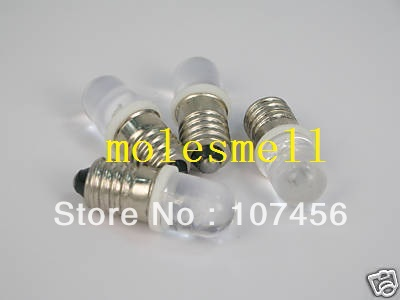 Free Shipping 5pcs White E10 12V Led Bulb Light Lamp For LIONEL 1447