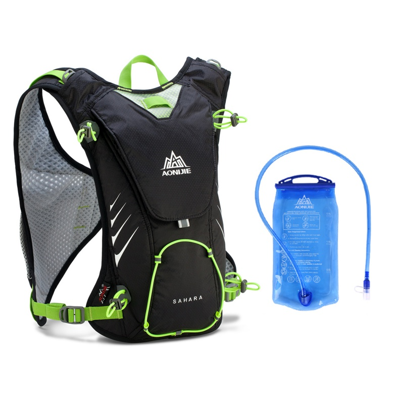 Outdoor Sport Trail Running Marathon Hydration Backpack Lightweight Hiking Bag With 1.5L Hydration Water Bag цена