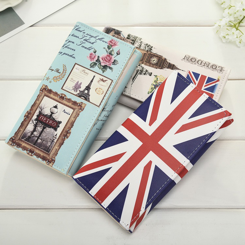 Clutch Wallets Purses Flags Money-Bags Paris Eiffel Women Coin Lady Long 25-Colors Tower-Style