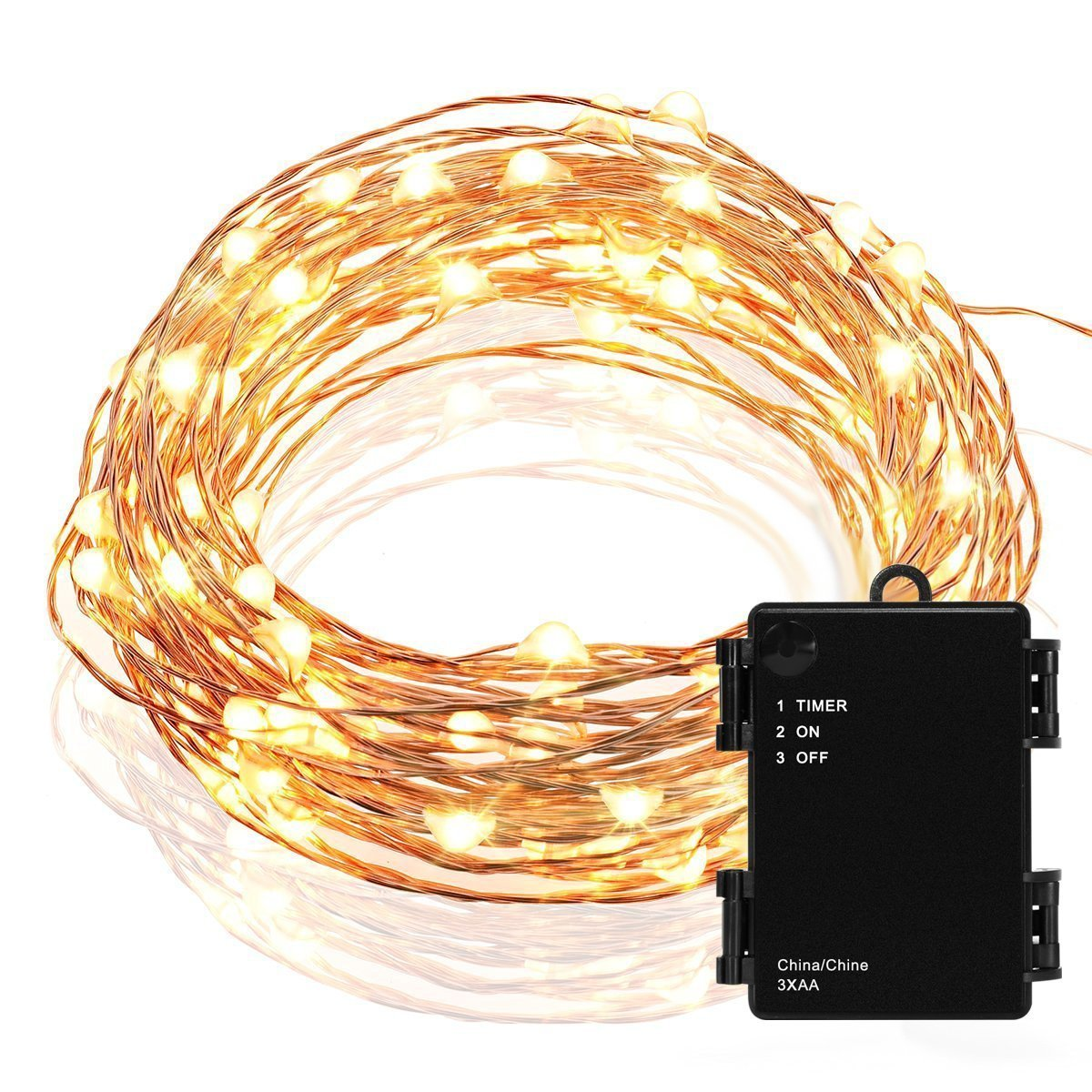 kohree micro 30 leds christmas string lights battery operated on 10