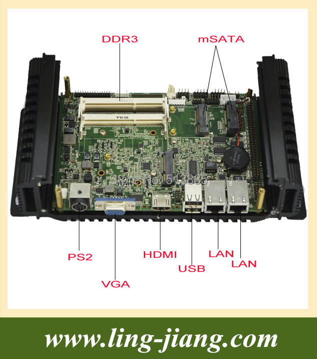 Wide Operating Temperature(-25-80 degree)embedded PC with wifi/3G/SIM socket (lbox-2550)