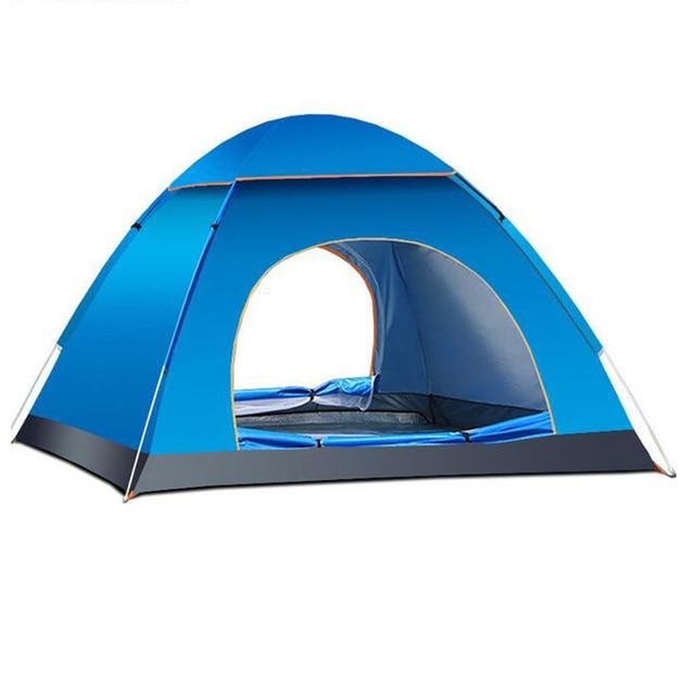 Folding C&ing Tent Beach Tent Automatic Open Double Doors 3-4 Persons Anti-UV  sc 1 st  AliExpress.com & Folding Camping Tent Beach Tent Automatic Open Double Doors 3 4 ...