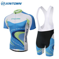 2018 Pro Team Cycling Clothing Quick Dry MTB Bike Clothes Short Sleeve Summer Sky Blue Men Women Cycling Jersey Set 10 Style