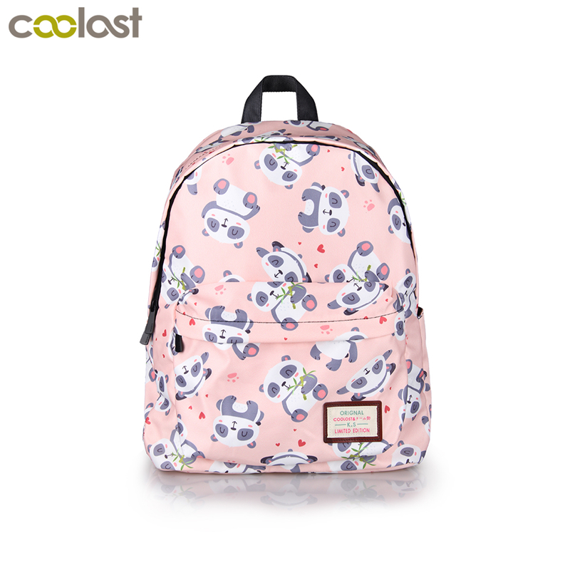 Cute Panda Bag Women Backpack Galaxy Flower Printing Backpacks for Teenage Girls Book Bag mochila Patchwork Children School Bags fashion women pu leather panda backpack teenagers girls cartoon school bags student book bag cute black white patchwork design